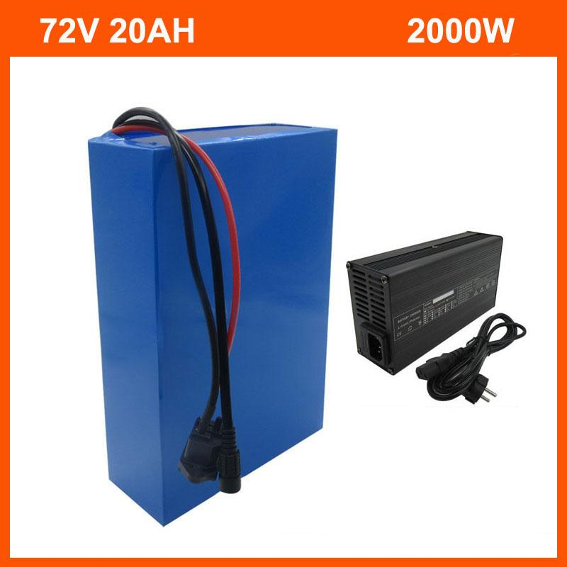 2500 W 72 V 20AH Lityum Pil 20 S 72 V 15AH 18Ah Elektrikli Bisiklet Pil 3.7 V 2600mAh 18650 Hücre 40A BMS ve 2A Şarj
