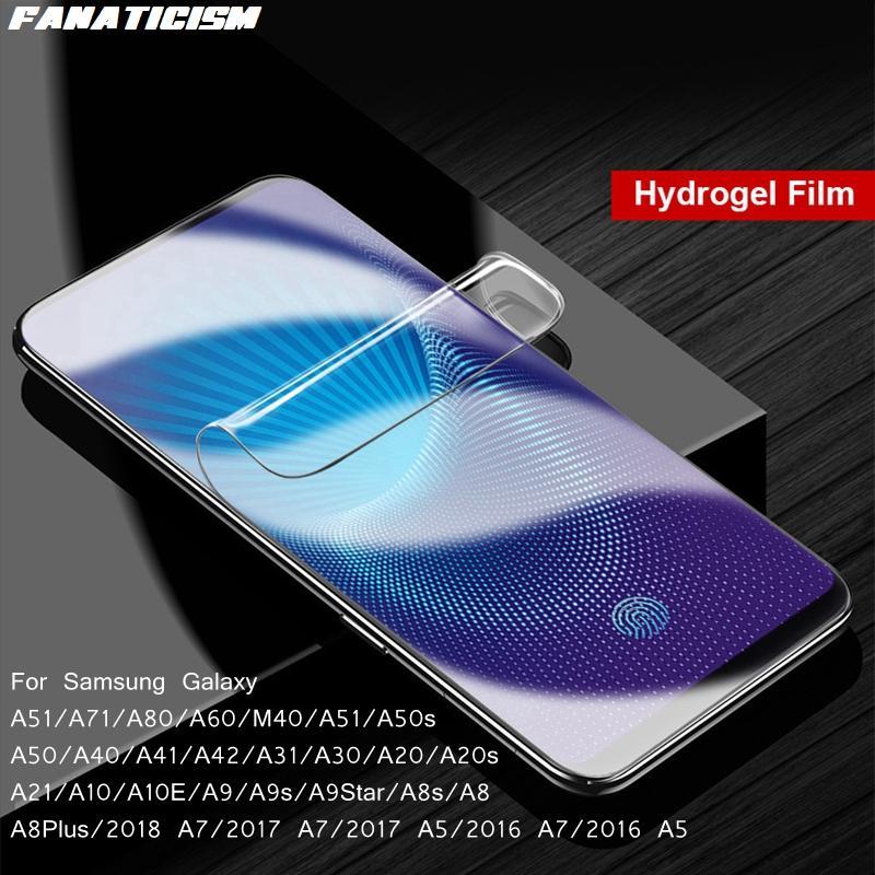 Tam Kapak Ekran Koruyucu Hidrojel Film Samsung Galaxy A51 A71 5G A80 A71 A60 A50 A50S A40 A41 A42 Yumuşak TPU Filmi