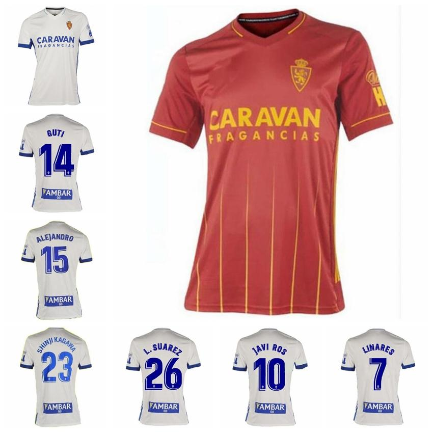 2020 echtes Zaragoza-Jersey 20-21 Fußball 10 Javi ROS 7 Linares Alejandro Zapater Vazquez Alejandro Papunashvili Iglesias Fußball-Hemd-Kits
