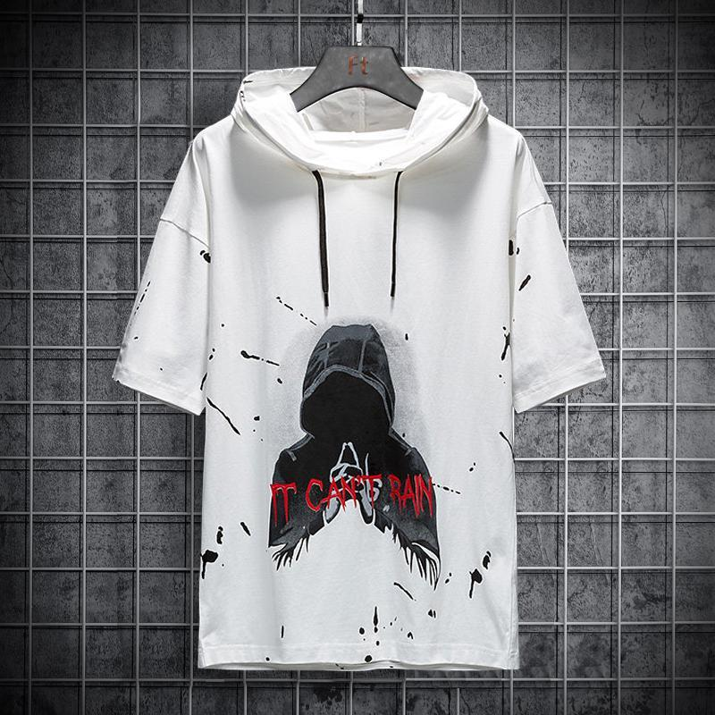 Herren Hoodies Sweatshirts Männer 2021 Harajuku Stil Sommer Herren Sweatshirt Hip-Hop Japanische Streetwear Baumwolle Printed Hoodie Top Mit Kapuze Gerinnsel