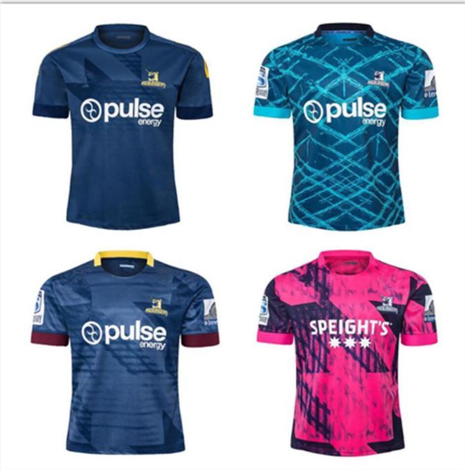2019 2020 2021 Highlanders Super Rugby Jersey Camicie da allenamento 19 20 21 Camicia da rugby Zealand Highlanders Performance Singlet Jerseys