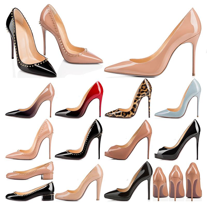 2021 дизайнер роскошные высокие каблуки на высоких каблуках Значения kate Styles красные днища женские шпильки каблуки 8 10 12 см натуральные кожаные точечные насосы насосы мокасины резиновые