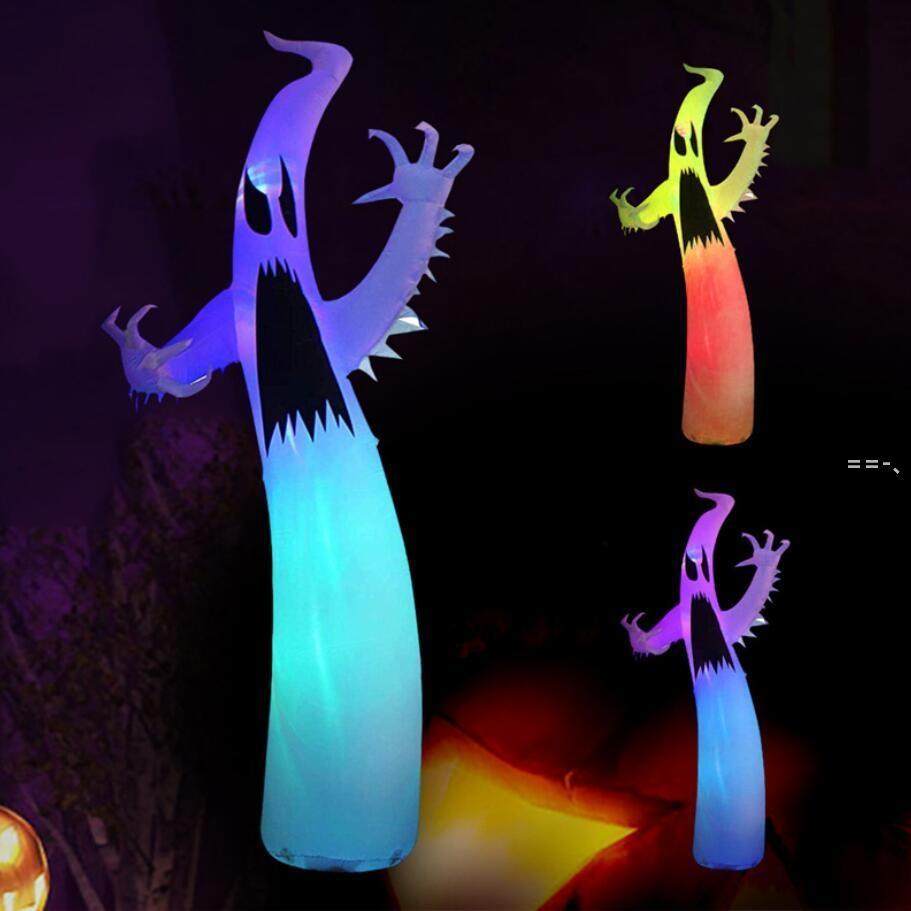 Carnavals de Halloween asustadizo inflable fantasma coso de la caja fuerte escena de la decoración de la decoración incorporada luces LED fantasma fantasma festival decoración juguetes NHD10152