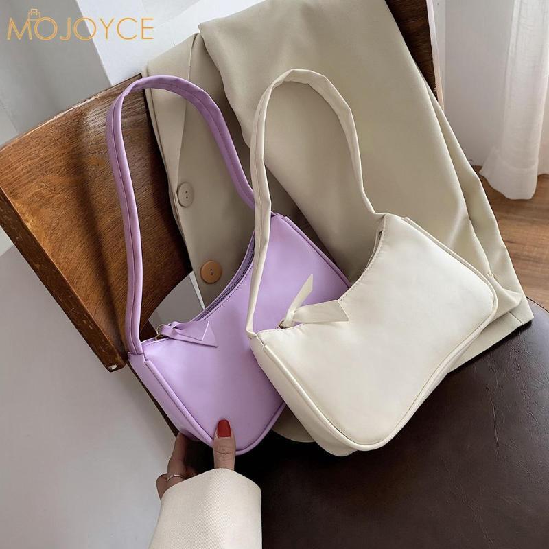 Мода Изысканная Сумка Молодежные Дамы Простая Универсальная сумка Сплошной Цвета Дамы Дизайн Винтажные Сумки на плечо