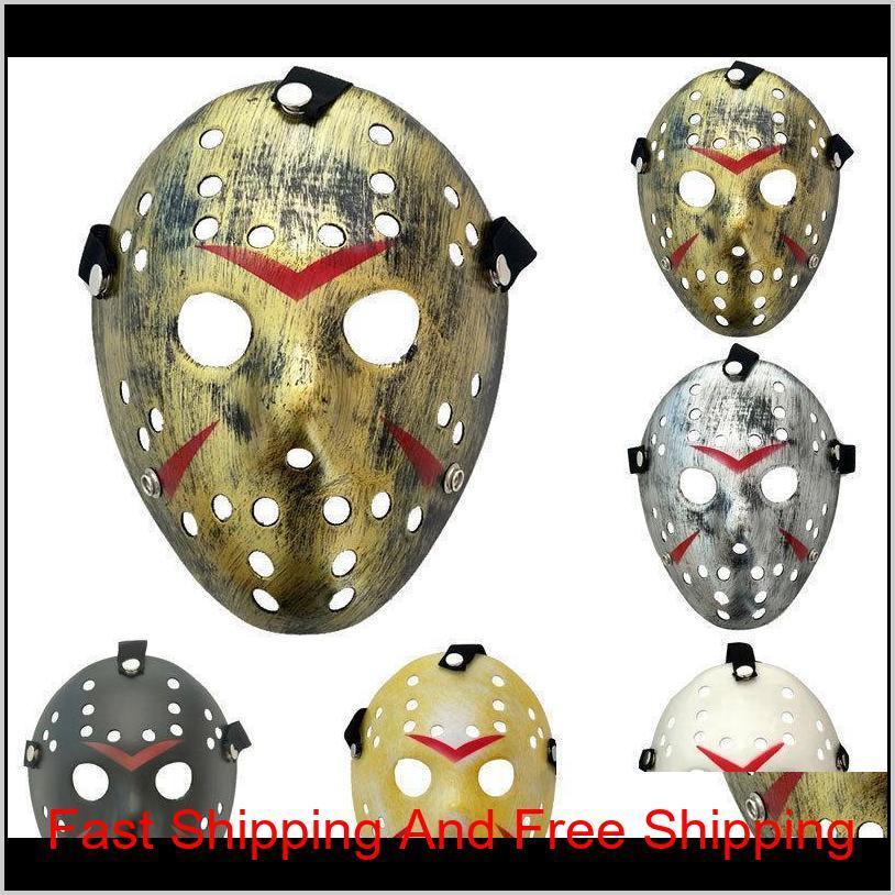 New Jason vs Freitag der 13. Horror Hockey Cosplay Kostüm Halloween Killer Maskerade Maske lustig Halloween F Qylzph Znkvn CO1SC