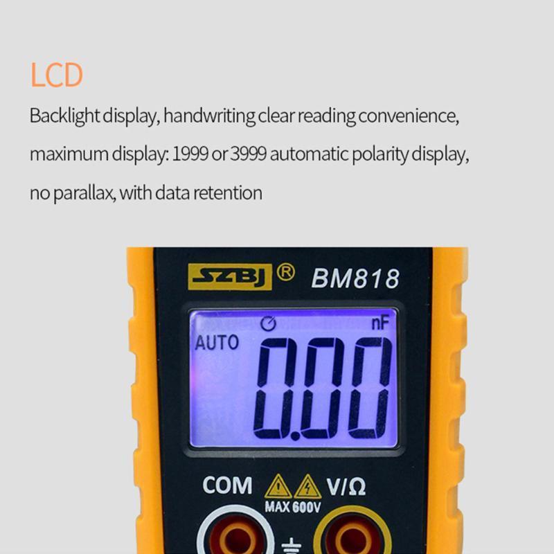 Multimeters Clamp Meter Multifunctional Large Capacitance Digital Display Easy Operate Auto Range High Accuracy Measurement Multimeter