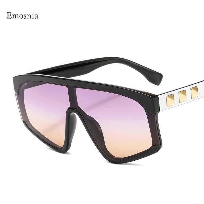 Модный черный кусок солнцезащитные очки мужчины негабаритные плоские верхние солнцезащитные очки для женщин квадратный градиент объектив óculos очки