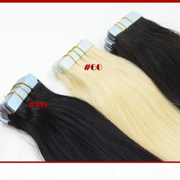 Straight Tape Hair Extensions Remy Human Hair Extension 100g pack