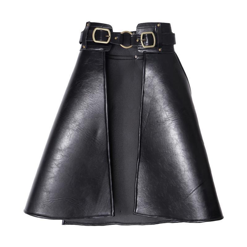 أحزمة المرأة peplum حزام الإناث تنورة جلد الخصر pu الكلاسيكية تمتد القوطية حزام الحشرة سينش