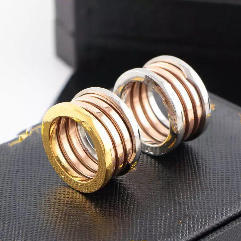 Продажа моды Пара Обручальное кольцо Смесись Цвет Из Нержавеющей Сталь Мужчины Женщины Ювелирные Изделия Спринг Кольца Простая петля