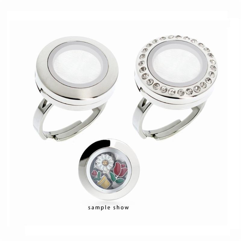 1 stück 316l Edelstahl Ringe 20mm Runde Ringe schwimmende Magnetische Glasmediziner Sende 5 stücke Free Randory Charms als Geschenk