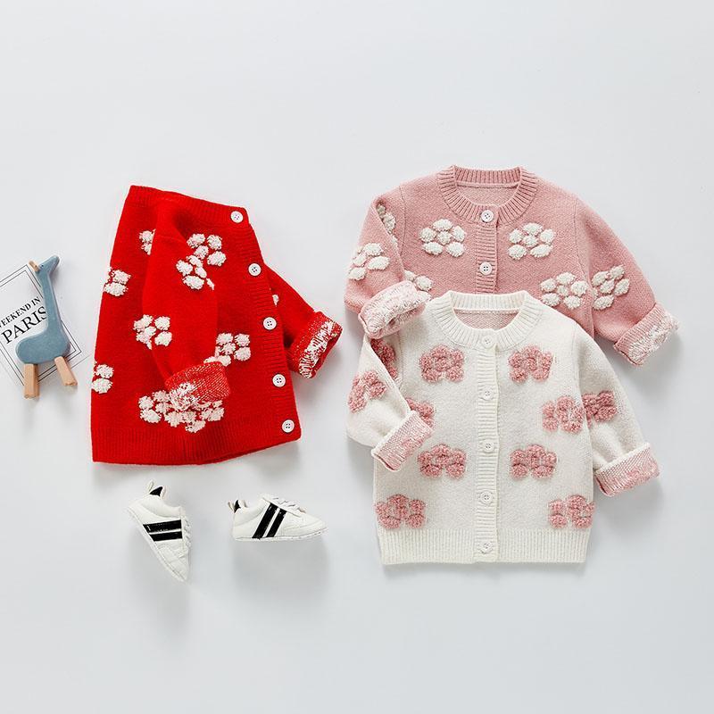 Milancel 2021 Frühling Neue Mädchen Pullover Nette Langarm Oansatz Floral Beiläufige Kleidung