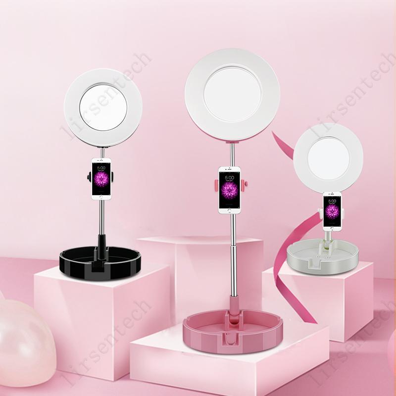 3500K 6000K 64 LED 144LED 6 pulgadas Selfie LED Luz de anillo con trípode Soporte para sala de estar Tiktok Fotografía de fotografía Luz de llenado con soporte telefónico