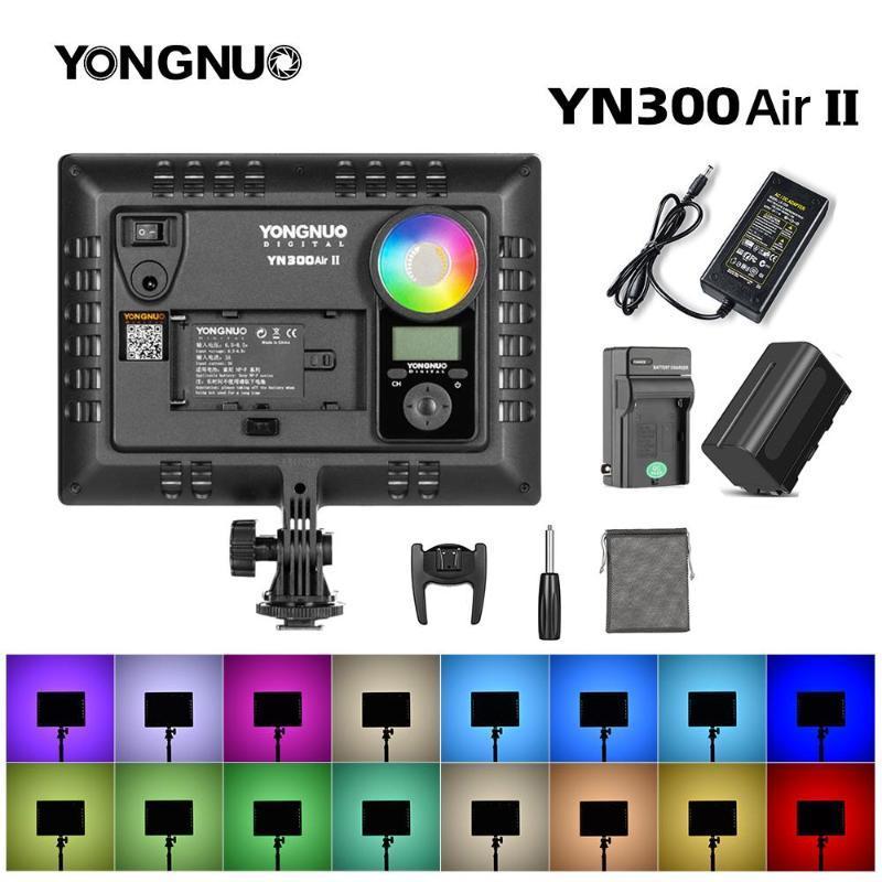 Yongnuo YN300Air II RGB LED-Kamera-Video-Licht, optionaler Batterie mit Ladegerät-Kit-Fotografie-Licht + Netzteil