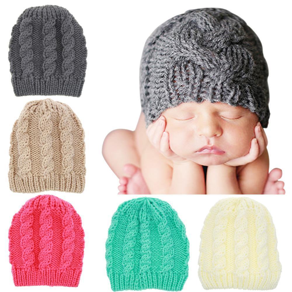 Kids girls Winter Warm Hats plaid handmade knitting Sweet Cute Crochet hat Newborn Children Knitted Caps for toddler KBH46