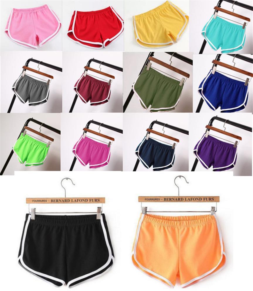 Plus Größe 3XL Frauen Sports Shorts Elastische Taille Outdoor Kurze Hosen Feste Farbe Heiße Shorts Sommer Kleidung Bodycon Fitness Hosen 4585