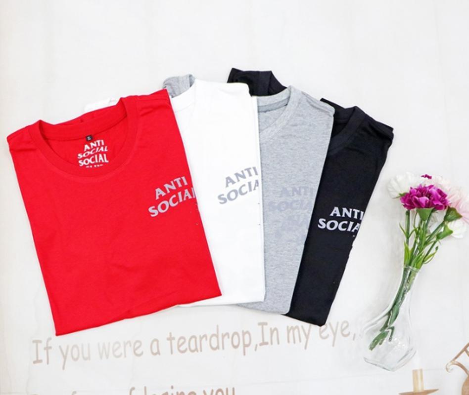 Kadın Tshirt Kısa Kollu Yüksek Kalite Erkekler Tees Tops Saf Pamuk Yaz Mektup Baskı Hip Hop Tarzı Giysileri Etiket Kutusu Ile