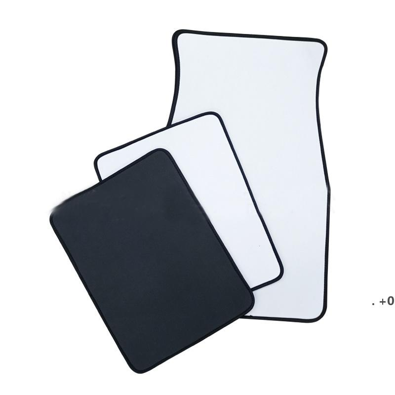 White Sublimation Blanks Carpets Anti Slip Neoprene Car Floor Mat Soft Protector Foot Front Universal Fit Most Auto Cars Trucks EWE9978