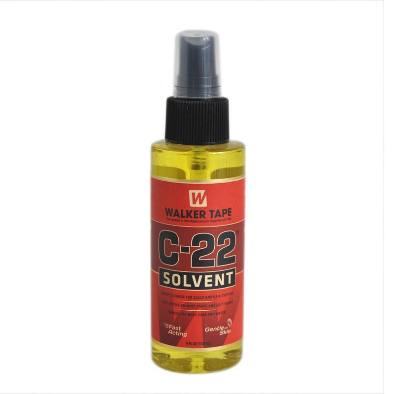 50 stücke 4fl.oz (118 ml) C-22 Haarlösungsmittelbandklebstoffentferner für Spitzen-Perücke für starkes doppelseitiges Band und weiche Bindungen Perücke