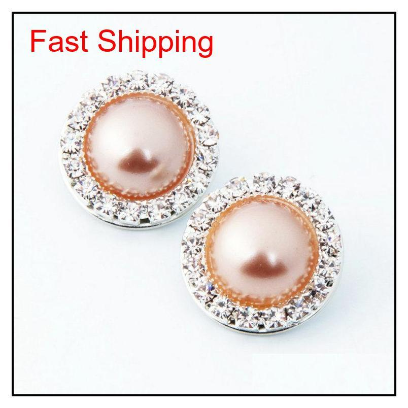 Chunks 18mm Ginger Snaps Crystal Rhinestone Faux Pearl Charm Diy Jewelry Fit Snap Button Bracelet Necklace Jewel jllqgj lottery2010