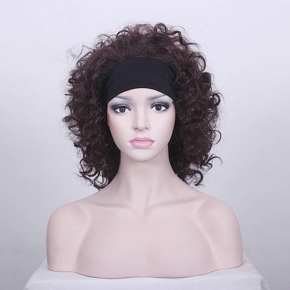Stirnband Perücke Half Stirnband Lange lockige Haarmode Frauen Perücke