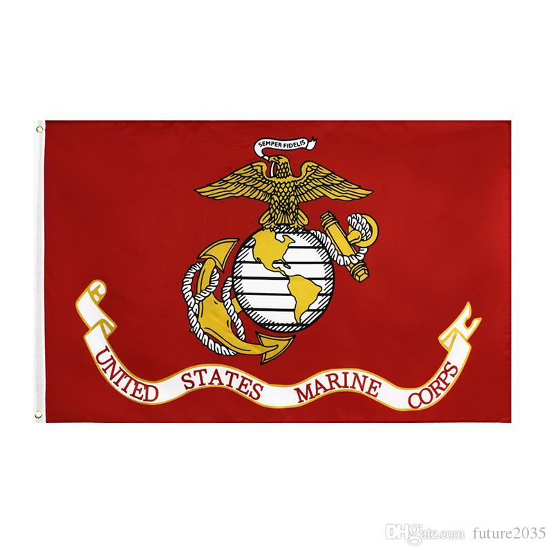 United States Marine Corps Flag Double Stitching High Quality US American Flags Banner Garden Supplies 90*150CM