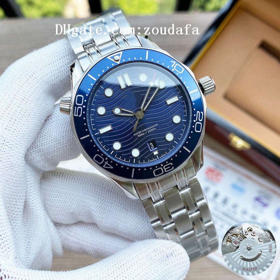 2021 Relojes de negocios de lujo de alta calidad de alta calidad Aqua 007 Terra Men Wristwatches James Bond Boss Master Mens Brand Chronograph Watch D1091