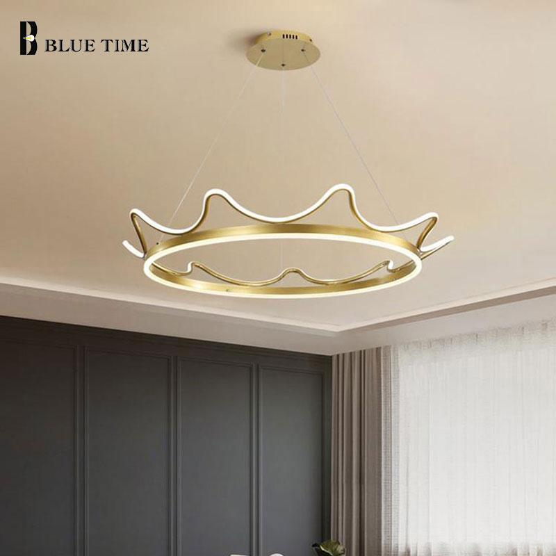 Pendant Lamps Modern LED Light Dining Room Bedroom Living Hanging Lamp Ceiling Indoor Lighting Fixtures Gold