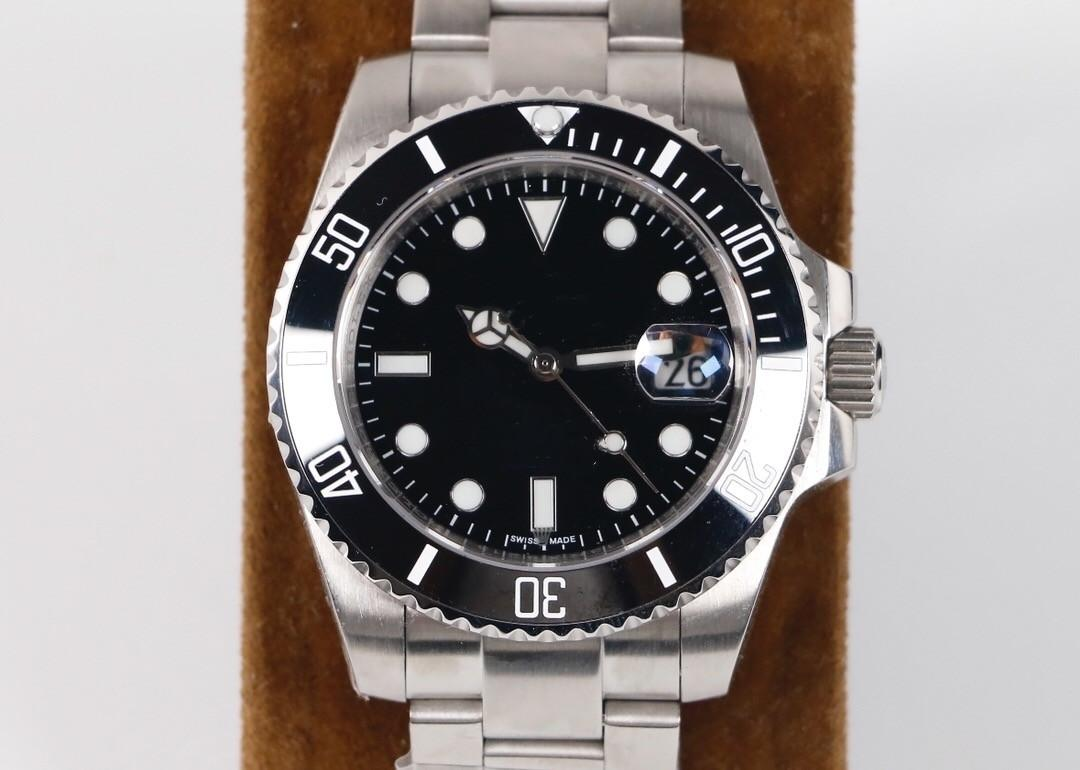 N 공장의 새로운 잠수정 시리즈 116610men의 시계 v10 40 mm 2836 무브먼트 3135 무브먼트 904 고급 스틸 시계 스트랩 세라믹 링, WA