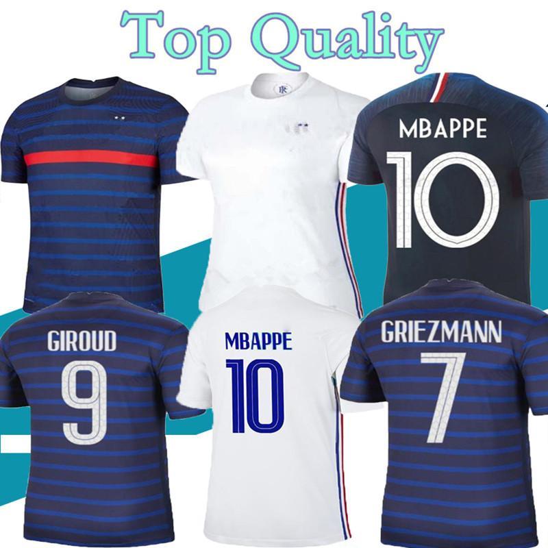 2020 2021 Взрослый Футбол Джерси Мбапс Гризманн Кант-Погба Майлот-де тьп 20 21 Мужские футбольные наборы набор футбольных рубашек