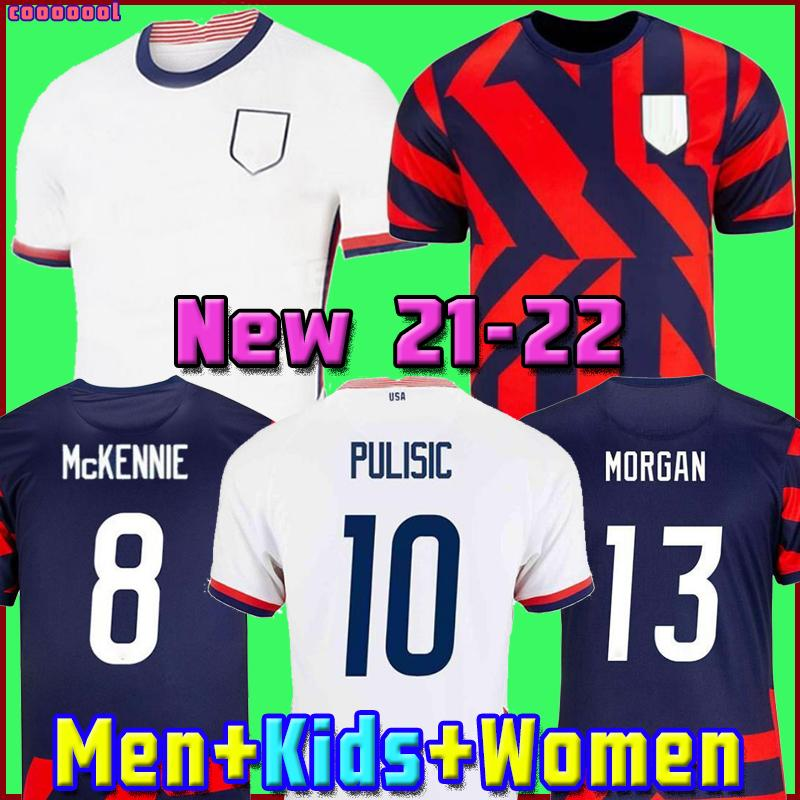 2021 Pulisic McKennie Soccer Jersey Aaronson Musah 2020 Pressione Sargent Morgan Lloyd América Futebol Jerseys Estados Unidos Camisa Camisetas Lletget Dique Men + Kids