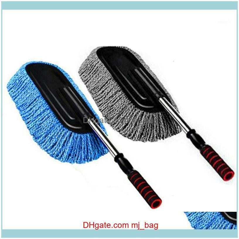 Brushes Household Tools Housekeeping Organization Home & Gardencar Large Microfiber Telescoping Car Wash Body Duster Brush Dirt Dust Mop Cle