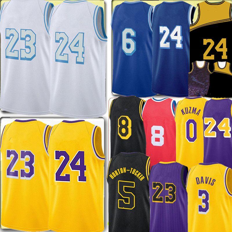 Los Talen 5 هورتون تاكر جيرسي اليكس 4 كاروسو أنجلوس جيرسي أنتوني 3 ديفيس كايل 0 Kuzma جيرسي التطريز كرة السلة الفانيلة 2021