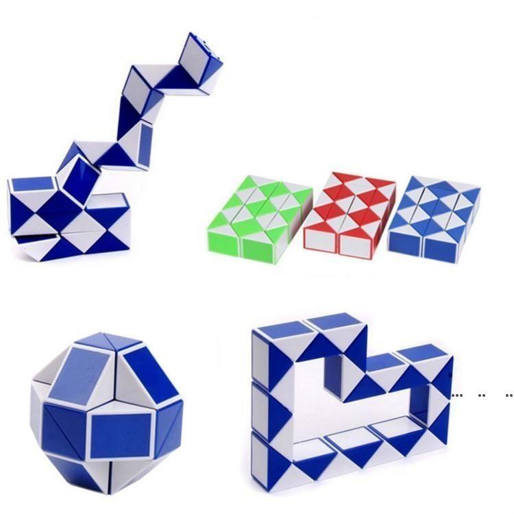 Neue Zauberwürfel Spielzeug 24 Abschnitte Vielfalt Magic Lineal Cube Snake Twist Puzzle Pädagogisches Spielzeug für Kinder Brinquedo Geschenk FWF5323