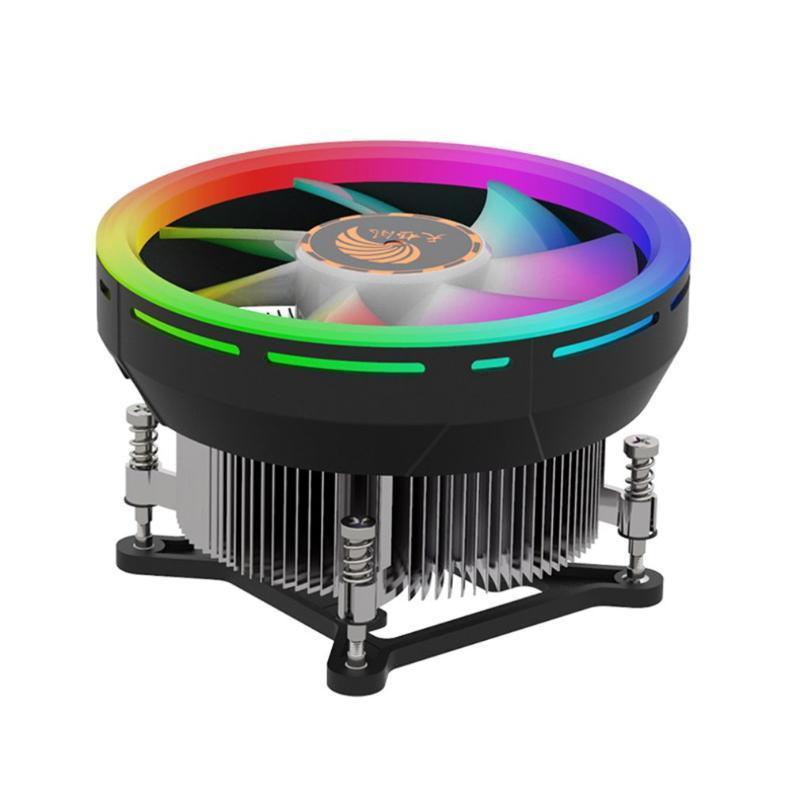 Ventilateurs de fans CPU Ordinateur Coloré Refroidissement coloré Fan-Suzaku Version statique Effet d'éclairage d'aluminium Matériau de l'aluminium Radiateur