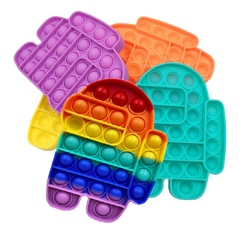 Hot Push Pop Fidget Toys Sensosory POP IT Fidge Игрушка среди США Аутизма Особые нуждается в беспокойстве Стресс для детей для детей