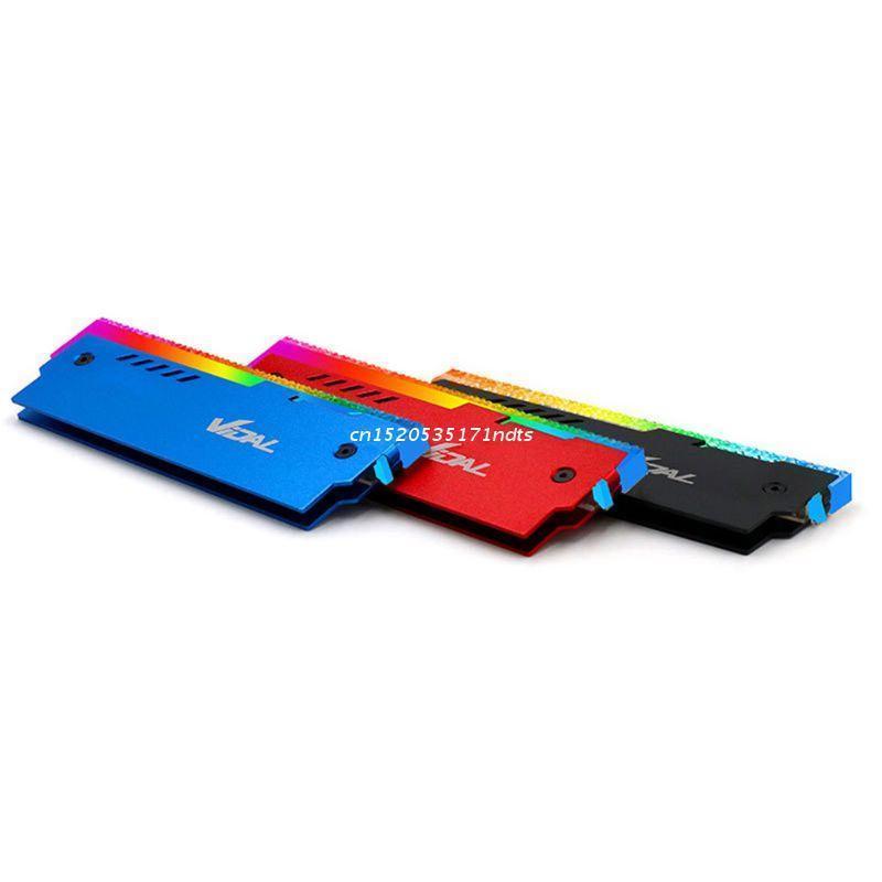 Fans & Coolings Desktop Memory Cooling Vest 12V RGB Motherboard Synchronous Aluminum Heatsink Dropship