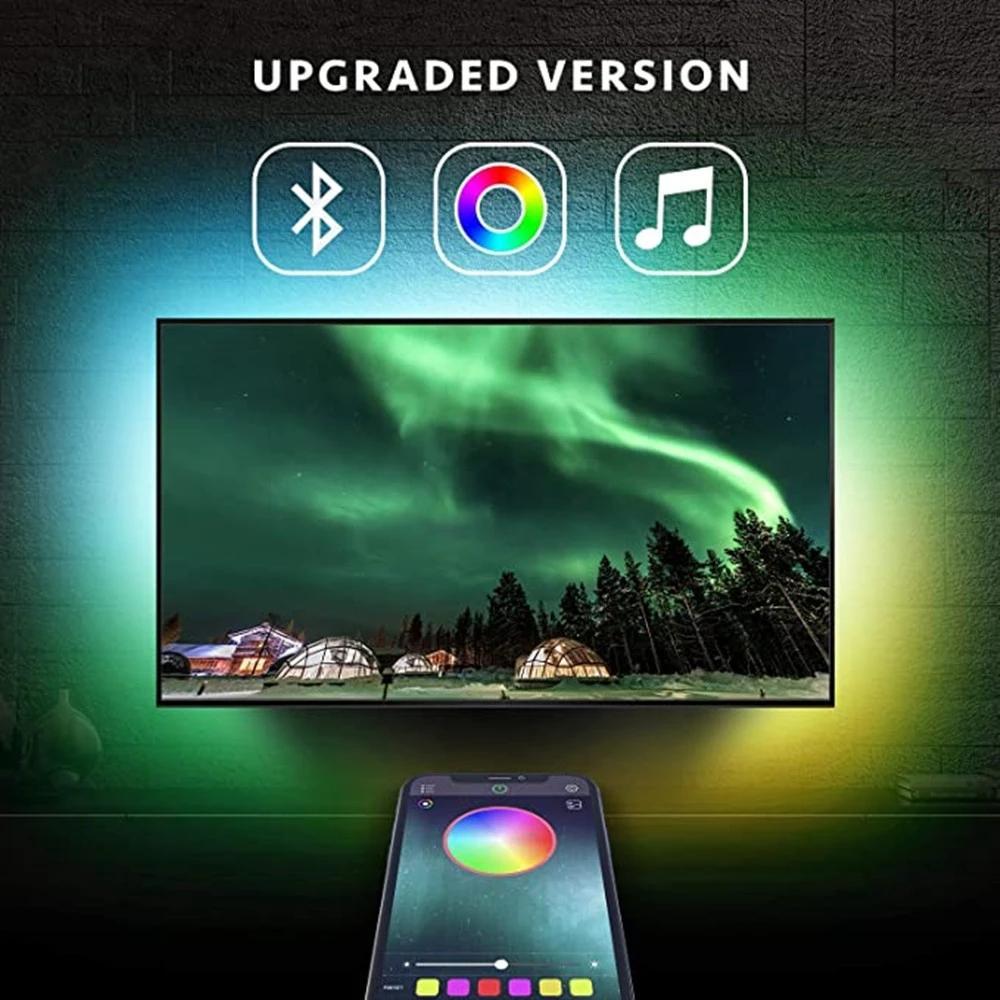 DC5V TV Bluetooth LED tira luz 5050smd 3 m fita levou luz usb diodo rgb luminária de iluminação sala de estar decorativa dropshipping