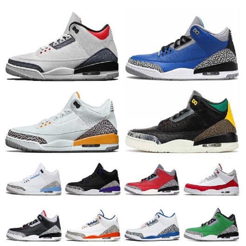 رخيصة Jupman 3 3S UNC TINKER KATRINA رجالي أحذية كرة السلة 10 10S Woodland كامو شيكاغو الأسمنت المدربين الرياضة أحذية رياضية الحجم 13