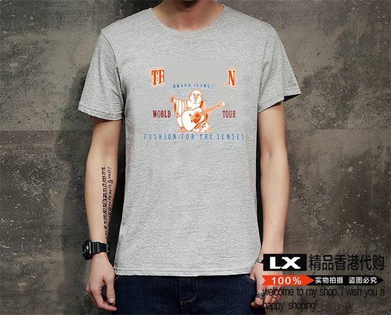 T-shirt T-shirt pour hommes de Hip Hop Vêtements Hop Vêtements Mode Big Buddha Femmes Vêtements Guitare Black Blanc Tops Tees