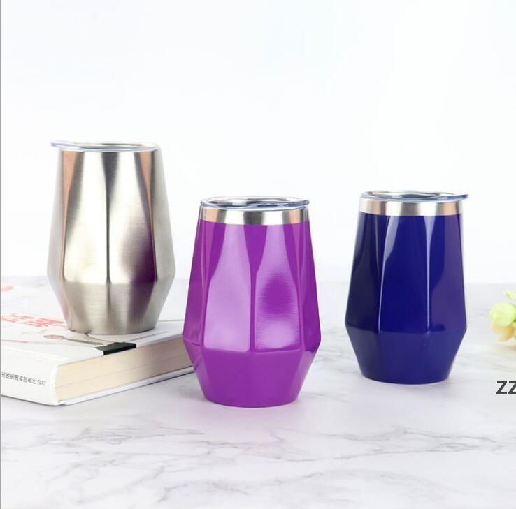 와인 안경 컵 머그잔 스테인레스 스틸 텀블러 팔각형 모양의 파티 장식 주방 음료 호의 HWB7634