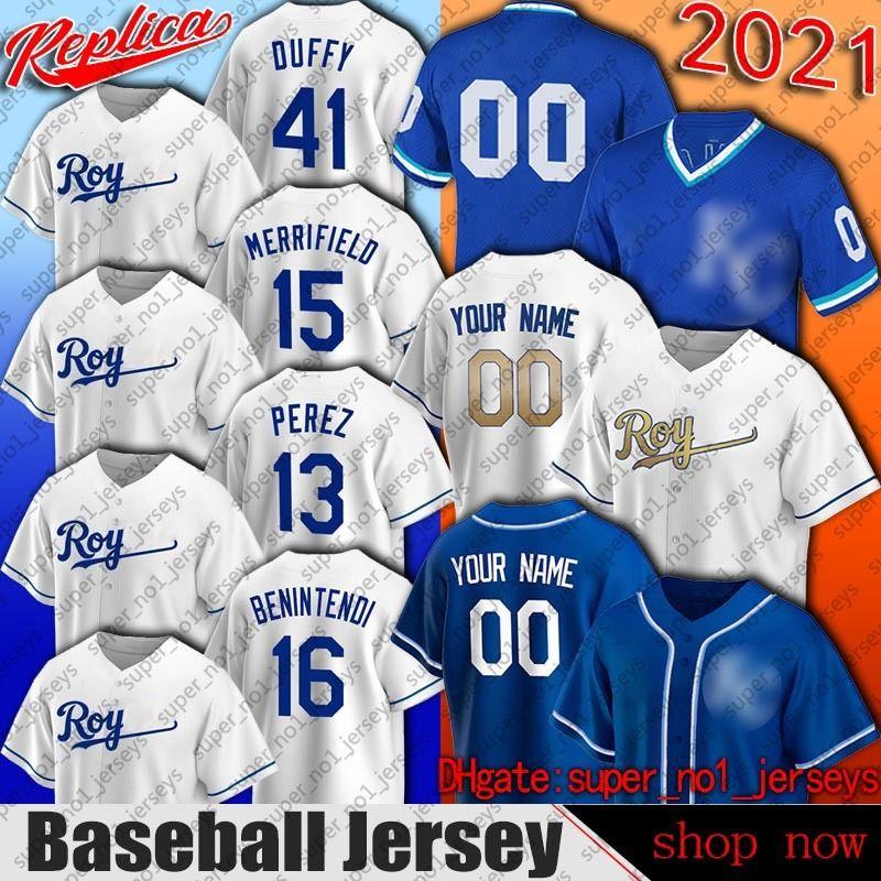 Kansas City 16 Andrew Benintendi Jersey Beisebol Whit Merrifield Jerseys Salvador Perez Danny Duffy Jersey Carlos Santana Keller Nicky Lopez
