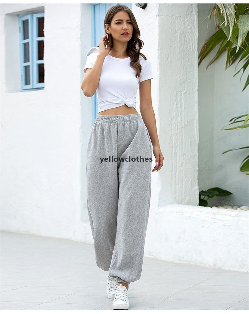 Fashion Women Loose Pencil Pants Female Summer High Waist Pants Casual Pure Color Clothes