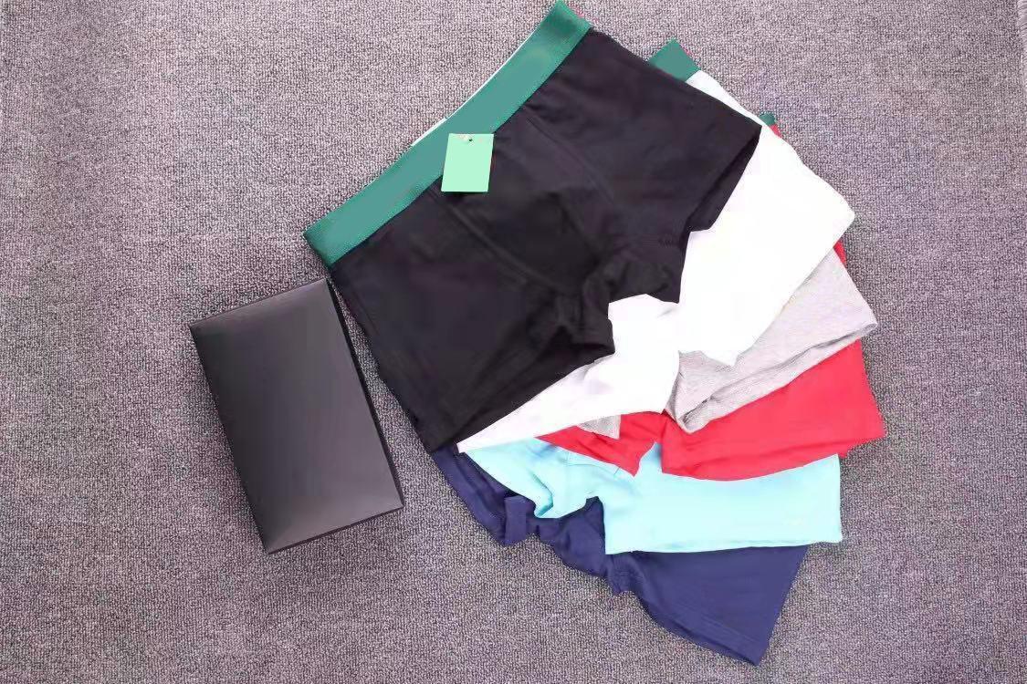 السروال التنفس الملابس الداخلية للرجال عالية الجودة 3 / مربع مريحة وناعمة حركة الملاكم السراويل القطن مثير