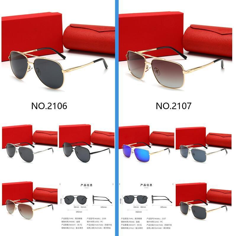 Высокое качество роскошные солнцезащитные очки UV400 солнцезащитные очки для мужчин и женщин летние солнечные очки на открытом воздухе Солнцезащитное стекло 13 цветов с коробкой