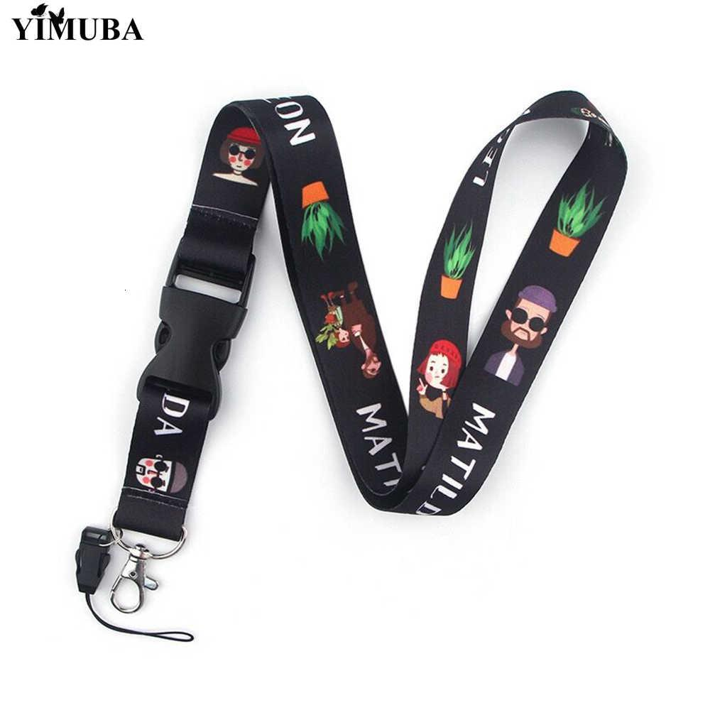 Yimuba matilda e leon lingas assassino desenhos animados imprimir singles fiajos touw touw cinto de telefone keychain decoração