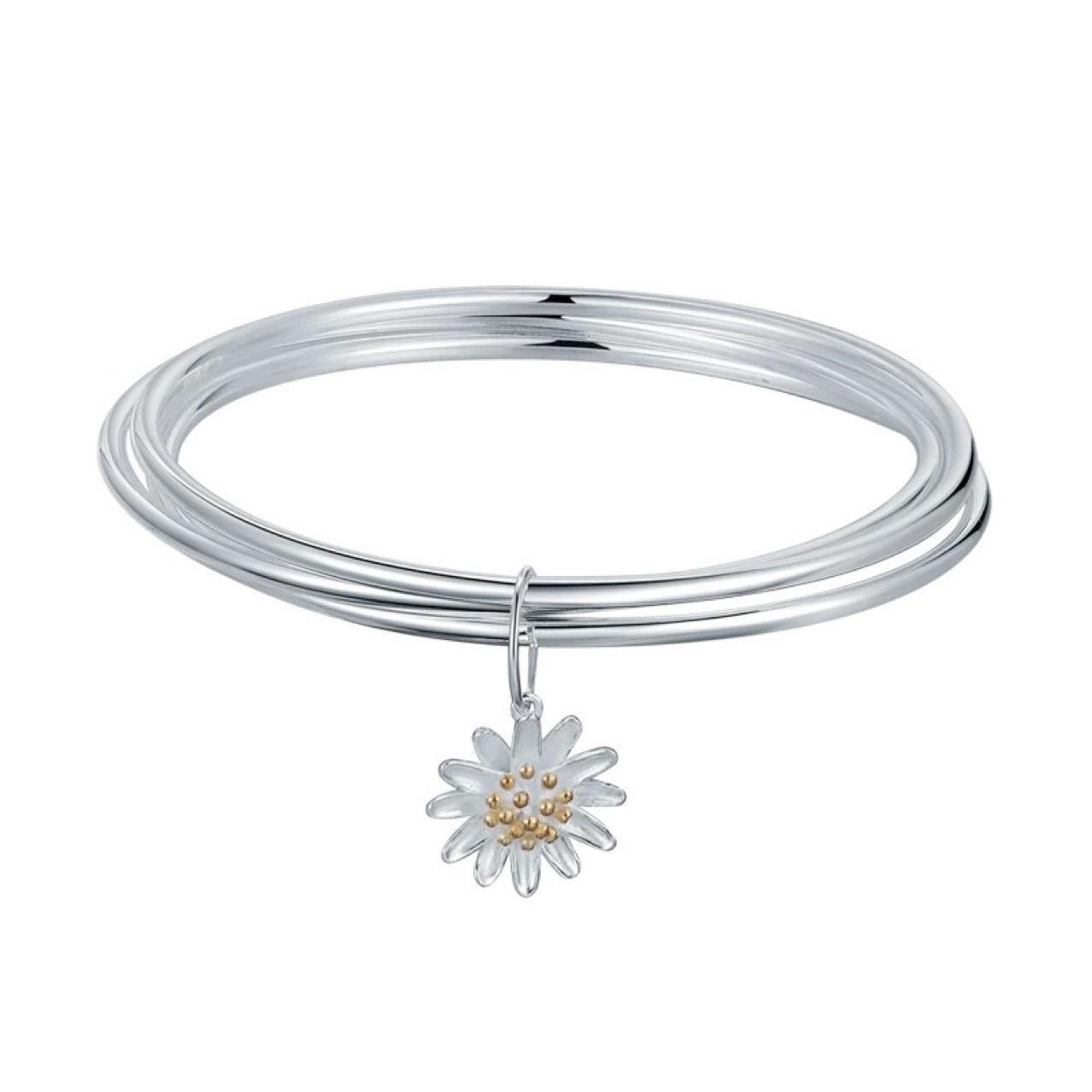 Tre cerchio liscio piccolo daisy sansheng iii braccialetto fresco braccialetto bianco rame Braccialefbu1