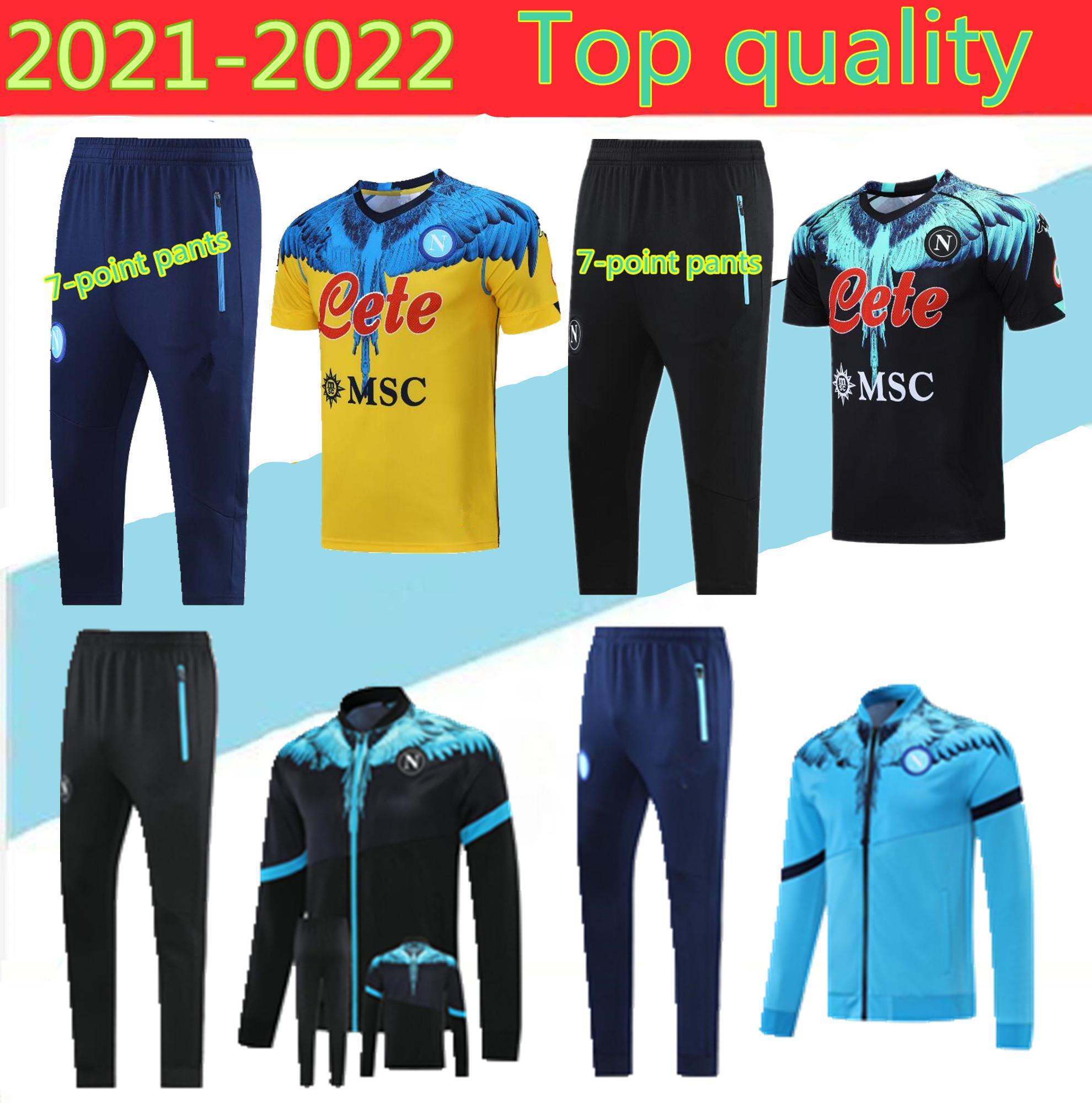 2020 Napoli Tracksuit Hamsik Insigne Callejon Zielinski 20/21 남자 + 아이들 나폴리 긴 지퍼 자켓 세트 축구 정장