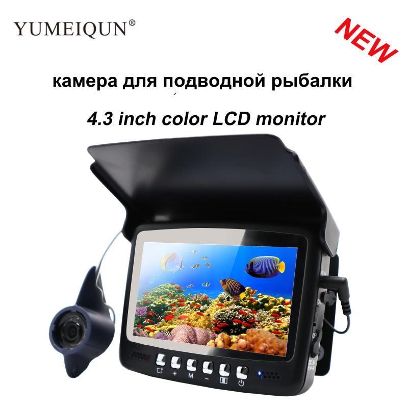 15M Fish Finder подводная рыбалка с 4,3-дюймовым монитором 8 шт. Инфракрасная Светодиодная камера ночного видения