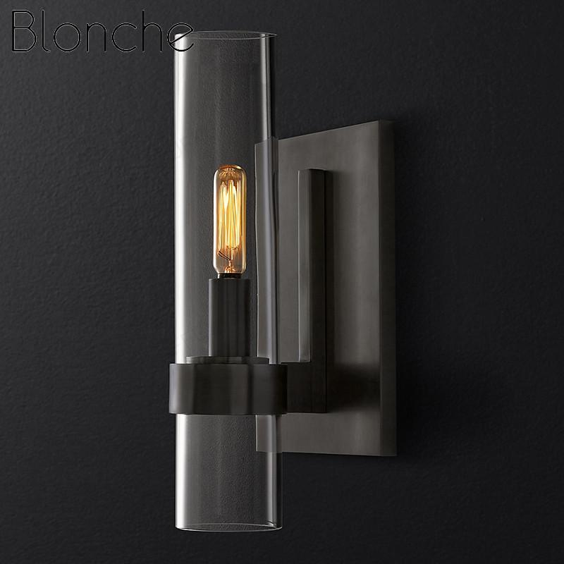Lampe murale lampes modernes Sconce Shade d'ombre d'or / lampes noires pour la maison de chevet salon Corridor Restaurant Loft Loft LED